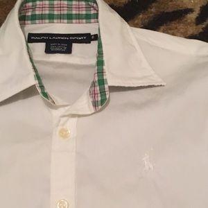 Ralph Lauren Sport Size 6 White Button Down